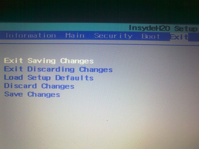 Exit Saving Changes