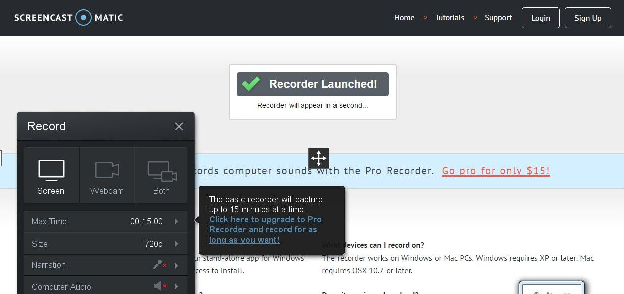 recorder launched