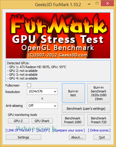 FurMark GPU Stress Test