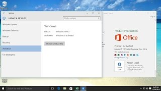 Video How to Activate windows 10 and microsoft office 2016 download MP3, 3GP, MP4, WEBM, AVI, FLV Agustus 2018