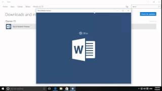 Video Windows 10 - Installing, pinning and using a Word Mobile App from the Windows Store download MP3, 3GP, MP4, WEBM, AVI, FLV Agustus 2018