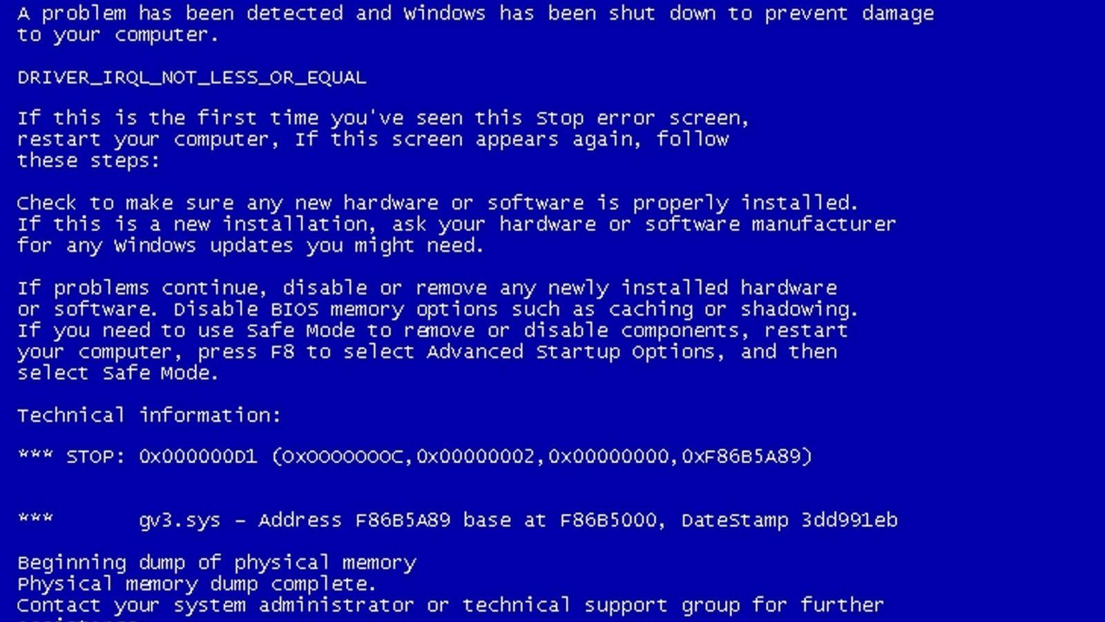Как сделать синий экран смерти windows 7 фото 211