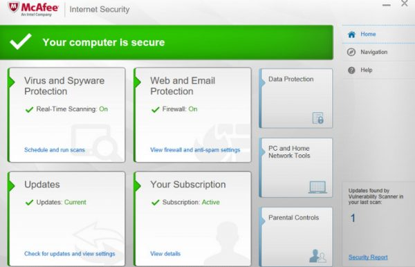McAfee Internet Security 20.2.